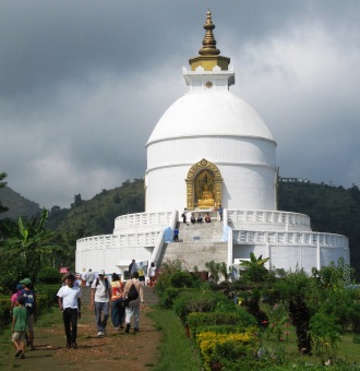 World Peace Pagoda in Pokhara, built by the Japanese