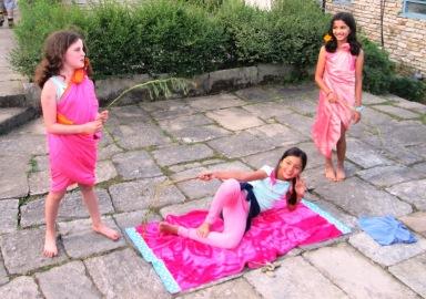 Charlotte, Maya and Janani performing the Jungle Song