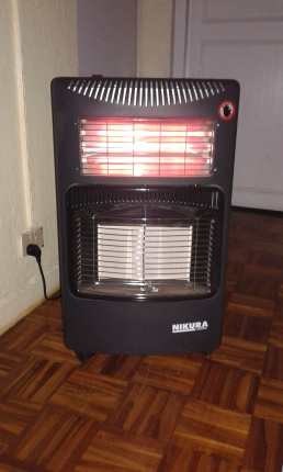 Our electric heater - kept in the bedroom as much of the night, the electricity is on and we can use it!