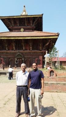Prakash and me in Bhaktapur.