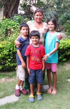 Sonu and the kids on her birthday!